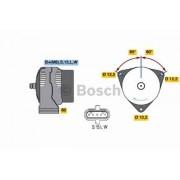 Alternátor MAN 28V/ 55A BOSCH, 0123325500