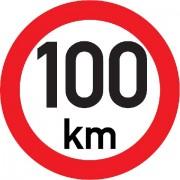 Označení rychlosti vozidla 100km - samolepka/200mm