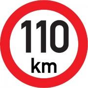 Označení rychlosti vozidla 110km - samolepka/200mm