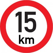 Označení rychlosti vozidla  15km - samolepka/200mm