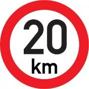 Označení rychlosti vozidla  20km - samolepka/200mm