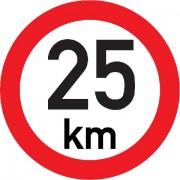Označení rychlosti vozidla  25km - samolepka/200mm