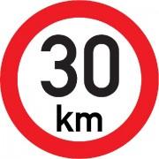 Označení rychlosti vozidla  30km - samolepka/200mm