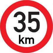 Označení rychlosti vozidla  35km - samolepka/200mm