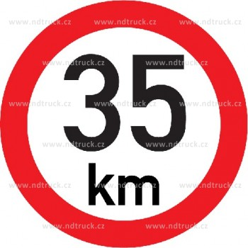 Označení rychlosti vozidla  35km - samolepka/200mm REFLEXNÍ