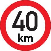 Označení rychlosti vozidla REFLEXNÍ  40km - samolepka/200mm