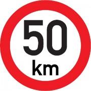 Označení rychlosti vozidla  50km - samolepka/200mm
