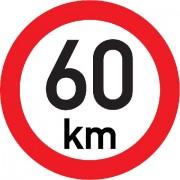 Označení rychlosti vozidla  60km - samolepka/200mm