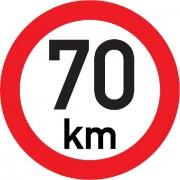 Označení rychlosti vozidla  70km - samolepka/200mm