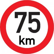 Označení rychlosti vozidla  75km - samolepka/200mm