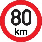Označení rychlosti vozidla REFLEXNÍ  80km - samolepka/200mm