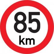 Označení rychlosti vozidla  85km - samolepka/200mm