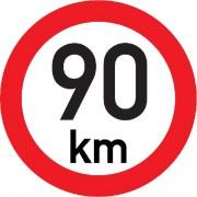 Označení rychlosti vozidla  90km - samolepka/200mm