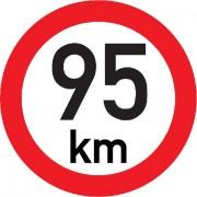 Označení rychlosti vozidla  95km - samolepka/200mm