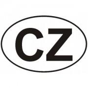 Označení CZ vnější - samolepka/180mm