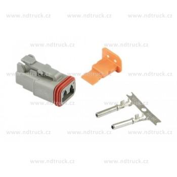 Svorkovnice konektor 2pin DEUTSCH, vodotěsná, svítilny, zástrčka