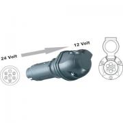 Adaptér napětí z 24V-12V, zásuvky CZ, ISO 1724, zástrčka 7-pól, 6231011, redukce