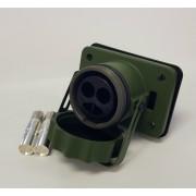 Zásuvka pomocného startu 24V, 2-pól, 52500027000, 50mm2, 1000A, bez ZADNÍ KRYTKY!