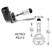 autožárovka, H27W/2, halogen PGJ13, 12V