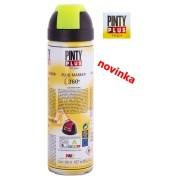 Barva značkovací fluoresceční sprej, PINTY PLUS TECH 500ml, žlutá, 360°, T146