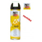 Barva značkovací fluoresceční sprej, PINTY PLUS TECH 500ml, bílá, 360°, T101