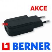 nabíječka USB, BERNER, 220V, 198629, 367176, lampy BERNER