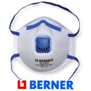 Ochranná maska RESPIRÁTOR, FFP2 proti jemnému prachu, rouška s ventilem BERNER, ST519397