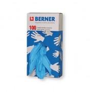 Rukavice gumové BERNER, 90ks, 98348, jednorázové nitrilové, velikost XXL, modré, pryžové