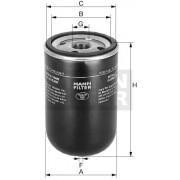 Filtr paliva WK9165x JCB, CASE