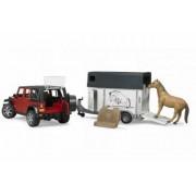 Auto, BRUDER, Jeep Wrangler, s přívěsem na přepravu koní a koněm, AKCE!, 2926 , autíčko, plastové, hračka