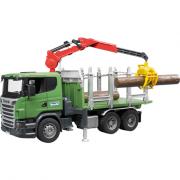 Auto, BRUDER, SCANIA R, přepravník dřeva, autíčko, plastové, hračka, 03524, 00981238