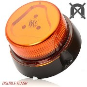 Maják W126, WAS, LED, zábleskový, 866.4D,12V/24V pevný na tři šrouby, oranž