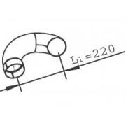 Trubka výfuku DAF, LF45 DINEX, DIN21724