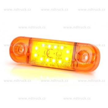 Svítilna obrysová 12xLED, W97.3B, oranž, NOVINKA!, boční, 12-24V