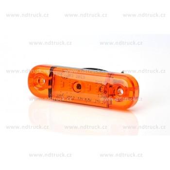 Svítilna obrysová 5xLED, W97.2/711, oranž, boční, 12-24V