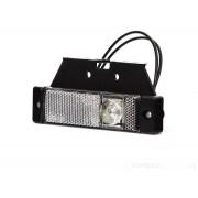Svítilna obrysová LED, W45 s držákem bílá, přední