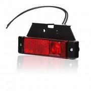 Svítilna obrysová LED, W45 s držákem červená, zadní