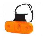 Svítilna obrysová LED, W47, s držákem oranžová, boční