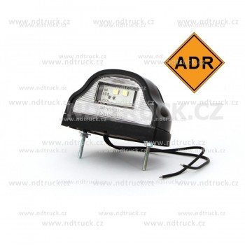 Osvětlení SPZ, LED, ADR, W72/408, černé, boule