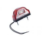 Osvětlení SPZ, LED W72 červené, boule