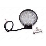 Světlomet pracovní LED pr.116  8 diod oválný, hliníkové tělo