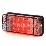 Svítilna LED W83 mlhovka červená /12 diod/, zadní