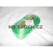 Pás upínací 2t, 8m s ráčnou / zelený / jednodílný