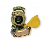 Hlavice vzduchu žlutá M22x1,5, pevná, spojka