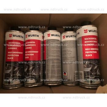 Ochranný nátěr podvozku vosk, WURTH, 1000ml, černý, 0892078100, nástřik, AKCE!, würth